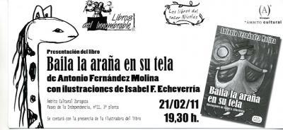Presentación Baila la araña en su tela de Antonio Fernández Molina